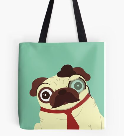 Pug in a Hat Tote Bag