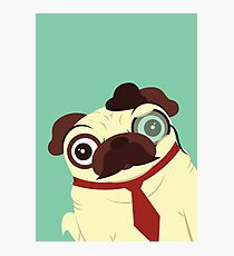 Pug in a Hat Photographic Print
