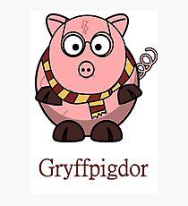 Piggy Cerdo Cerdito Gryffindor Harry Potter Nerd Photographic Print