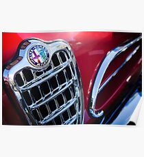 1957 Alfa Romeo 1900C Super Sprint Kühlergrill Emblem -0588c Poster