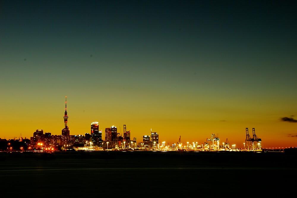 Auckland at dusk by Azri Adnan