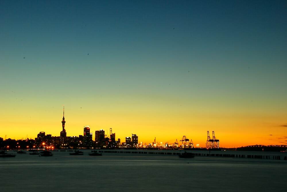 Auckland sunset by Azri Adnan