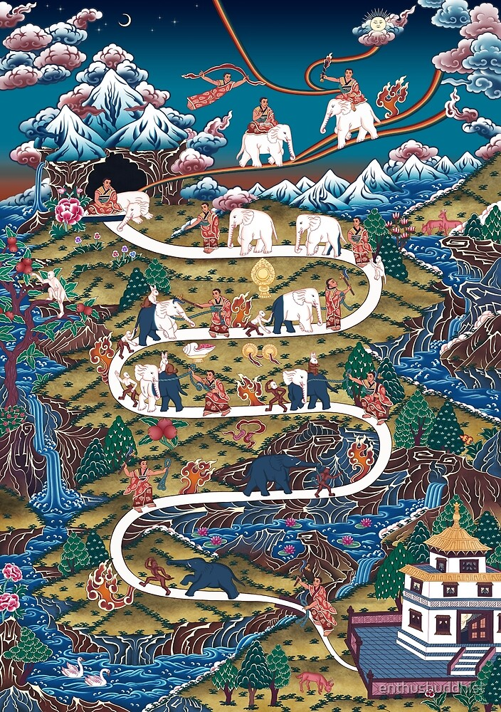 Taming The Elephant Mind Diagram by enthusbuddhist