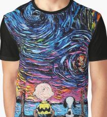 Snoopy Charlie Brown Starry Night Graphic T-Shirt