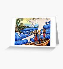 Sailing Through Hokusai Greeting Card
