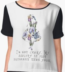 Alice floral designs - I'm not crazy Chiffon Top