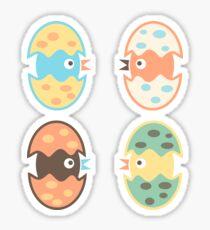 Cute hatched birds Sticker