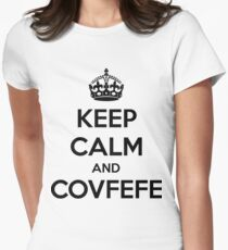 Keep Calm and Covfefe Women's Fitted T-Shirt