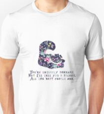 Alice floral designs - Cheshire cat entirely bonkers T-Shirt