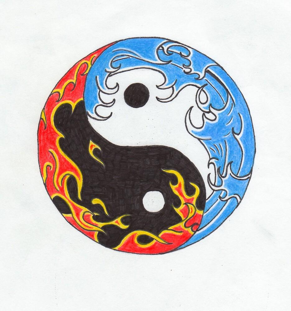 fire water yin yang by godofthemind