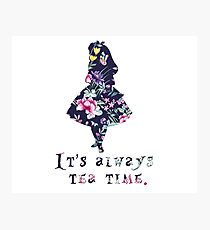 Alice floral designs - Always tea time Photographic Print