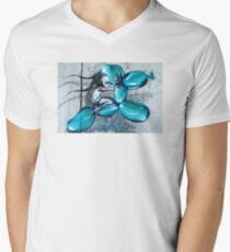 Riding Jeff Koons Mens V-Neck T-Shirt