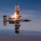 Ein Pilot feuert eine Rakete in einem A-10 Thunderbolt II. von StocktrekImages