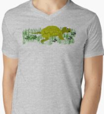 Turtle with Ant Friends Mens V-Neck T-Shirt