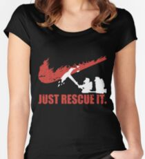 just rescue it fire fight t-shirts Women's Fitted Scoop T-Shirt