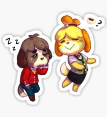 Digby and Isabelle_Early Morning Routine Sticker