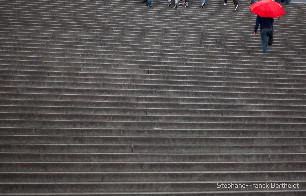 stairs of Sacré Coeur by Stephane-Franck Berthelot