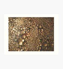 Experimentell - Earth - Edelsteine - Smaragde - Sand Kunstdruck