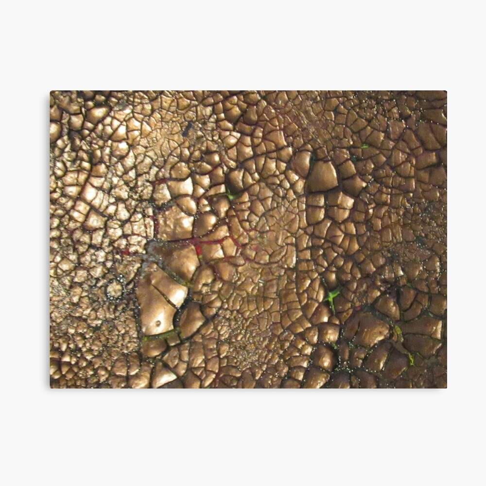 Experimentell - Earth - Edelsteine - Smaragde - Sand Leinwanddruck