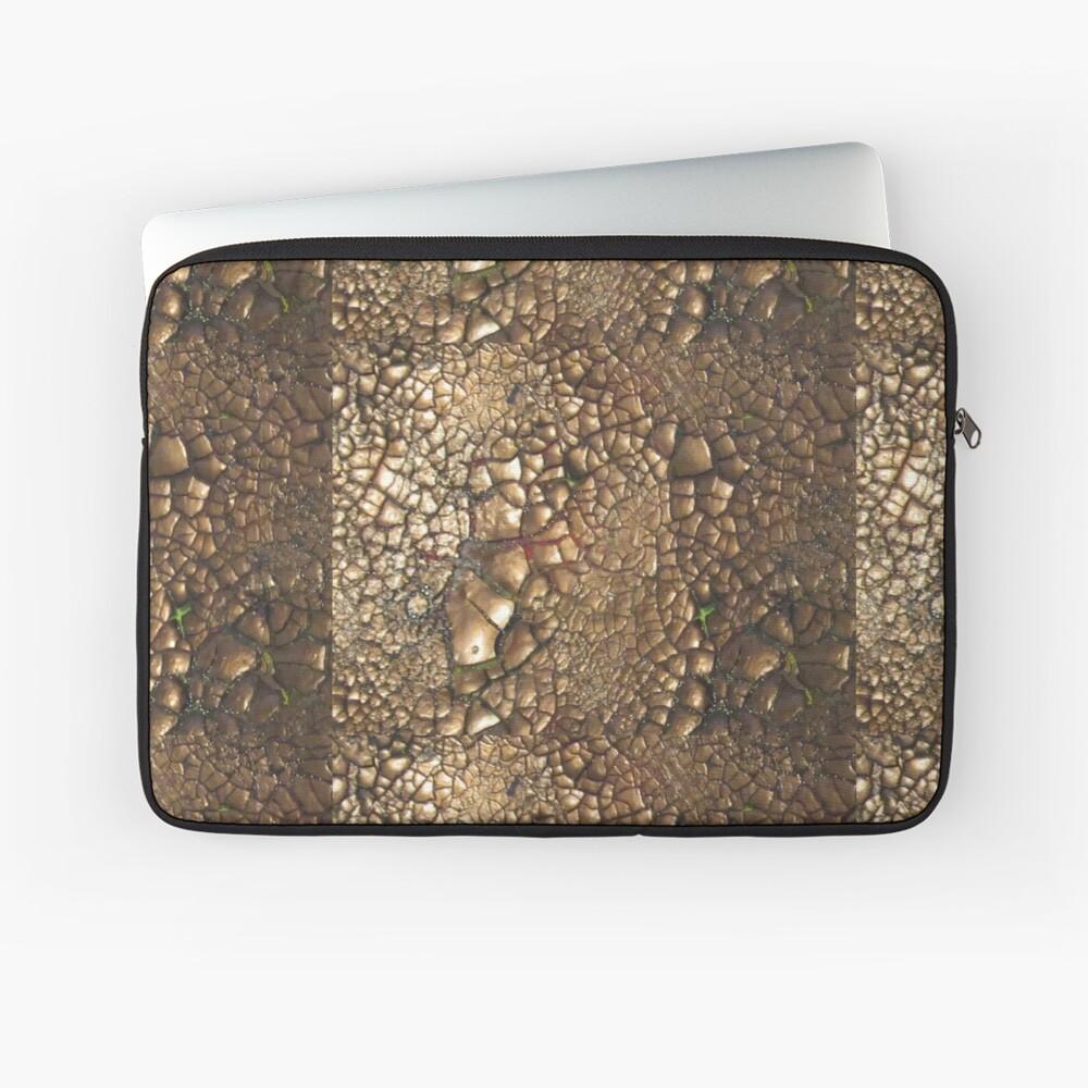 Experimentell - Earth - Edelsteine - Smaragde - Sand Laptoptasche Vorne