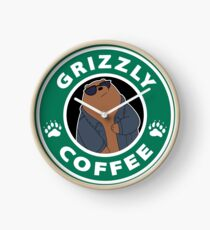 Grizzly Coffee Clock