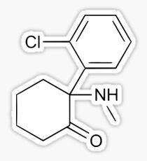 Ketamine structure Sticker