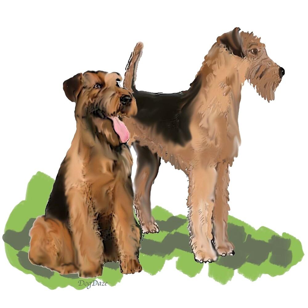 Airedale Terriers by IowaArtist