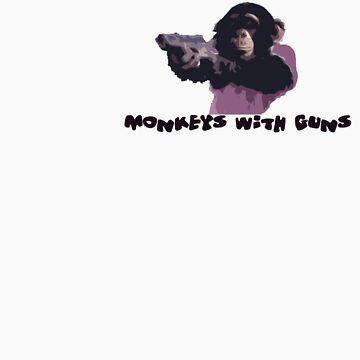 Monkeys With Gun's by shanecox704