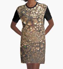 Experimentell - Earth - Edelsteine - Smaragde - Sand T-Shirt Kleid