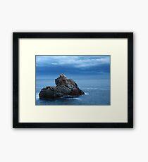 seascape  rock in the sea Framed Print
