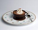 Chocolate cup & Saucer  by wolftinz