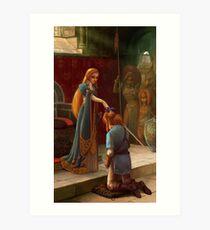 The Knighting Art Print