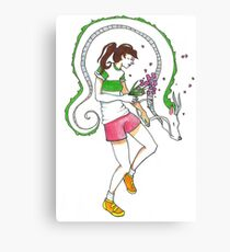 dragon girl Canvas Print