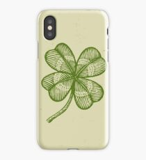 Vintage lucky clover iPhone Case/Skin