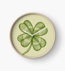 Vintage lucky clover Clock