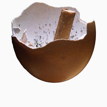 Eggshell Ashtray by C110
