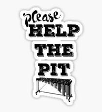 Please Help the Pit Sticker