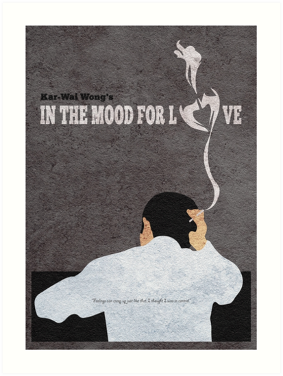In the Mood for Love Minimalist Alternative Movie Poster by A Deniz Akerman