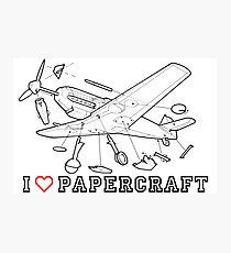 i love papercraft Photographic Print