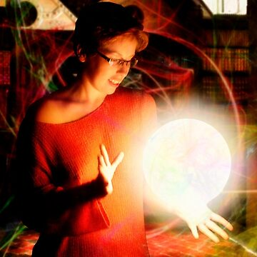 Casting Her First Spell by heathendesigns