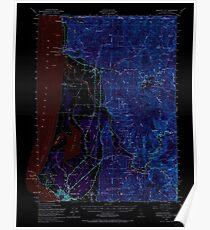 USGS Topo Map California Crescent City 297234 1952 62500 Inverted Poster