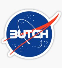 """Butch"" - Nasa logo inspired Sticker"