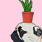«Pug Flower Pot» de Lostanaw