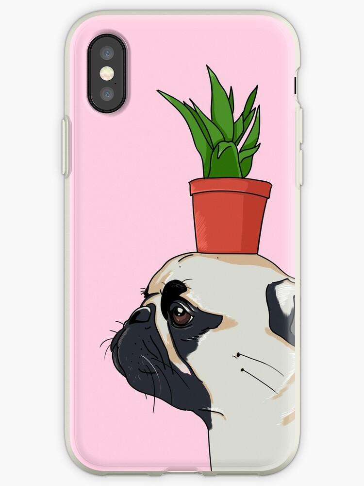 coque iphone xs pot de fleur