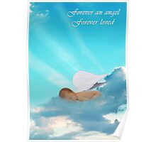 Forever an Angel Sympathy Card Poster
