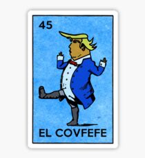 El Covfefe Act Vintage Mexican Trump Bingo Card Sticker