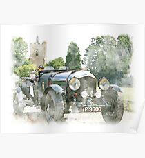 Classic Vintage Car Design Poster