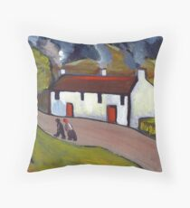 Whitewashed cottages Throw Pillow