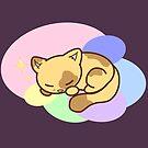 Schläfriges Pastell-Kätzchen von Dreamy Scribbles
