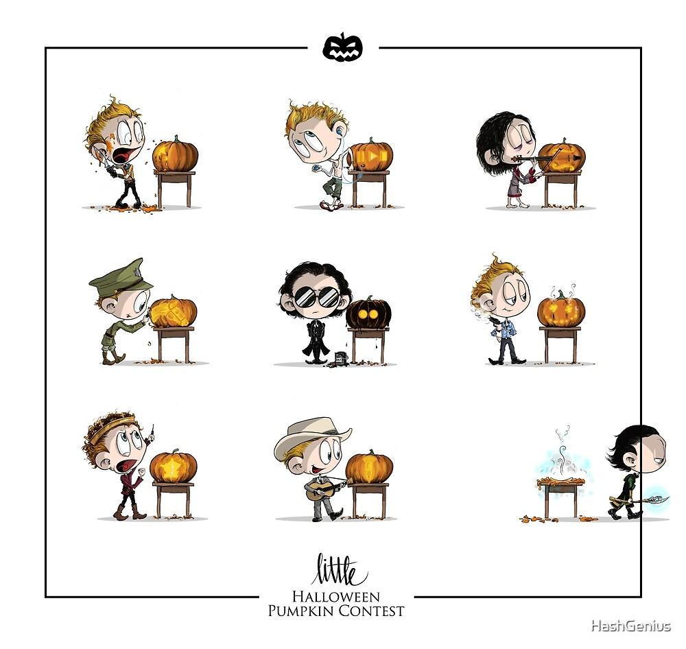 Little Halloween Pumpkin Contest by HashGenius